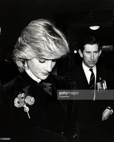 November The Prince and Princess of Wales pictured at London's Festival Hall for the Remembrance Service Lady Diana Spencer, Charles And Diana, Prince Charles, Princesa Diana, Royal British Legion, Princess Diana Photos, British Monarchy History, Festival Hall, Royal Albert Hall