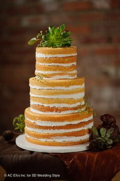 I love the natural look of the nude cake