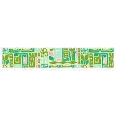 "Amy Reber ""Maze"" Green Vector Table Runner"