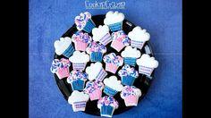 Cupcake Mini Decorated Cookies Tutorial Video