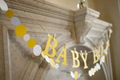 love the grey and yellow baby shower