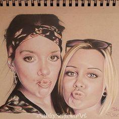 """Girls"" - finished. I draw they with Polychromos on StrathmoreTonedTan paper…"