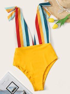 2020 Women Swimsuits Bikini Red Thong One Piece Swimsuit Bisous Swimwear Swimwear Uk Designer Swimsuits 2019 1 Piece Swimsuit, Striped Swimsuit, One Piece Swimwear, Bikini Dos Nu, Red Bikini, Cheap Swimsuits, Women Swimsuits, Swimwear Uk, Summer Swimwear
