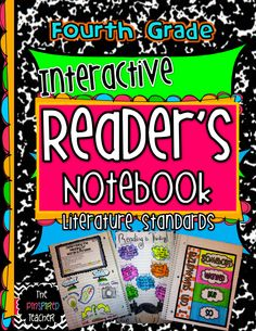 4th Grade Interactive Reading Notebook by The Pinspired Teacher- includes dozens of classroom photos of anchor charts used to scaffold notes. Super easy for first time notebookers (teachers & students)