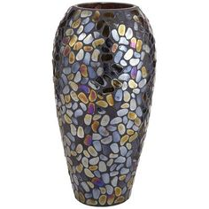 Metallic Pebble Mosaic Vases