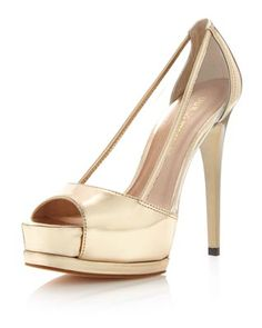 Pour la Victoire Tilda Platform Pump, Rose Gold    Would love this if I was a guest at a weeding AND if it was my OWN wedding! Gorgeous.