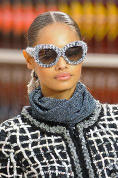 Runway and Beauty   Malaika Firth - Details at Chanel Fall/Winter...