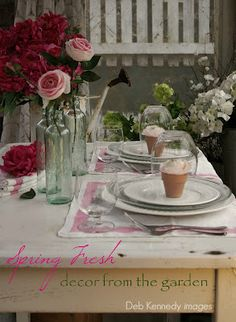 Beautiful Spring Table setting