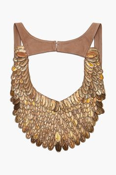 coin feather bib