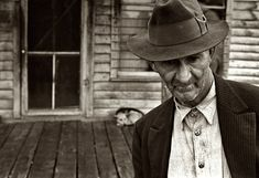 Holdouts: October 1935. One of the few remaining inhabitants of Zinc, Arkansas, deserted mining town. 35mm nitrate negative by Ben Shahn.