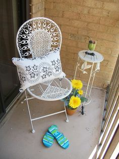 Adding some interest to a small balcony can make it memorable!