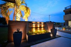 リゾートガーデン 有限会社フィールド 群馬県I様邸 Spectacular garden lighting by lighting professionals. Enjoy a dramatic, romantic, even mysterious scene comparing to a day time.