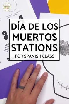 Check out some engaging options for station ideas, cultural activities, and crafts you could include for Day of the Dead Activities for Spanish class! Help your students or kids learn everything about the Day of the Dead with this collection of Día de los Muertos lesson plans and resources. This post is great for any middle or high school Spanish class studying el Día de los Muertos, the Day of the Dead. Class decor, writing activities, games, and more included! Click through to learn more! Class Activities, Writing Activities, Middle School Spanish, Spanish Lesson Plans, Class Decoration, Spanish Classroom, Day Of The Dead, Drawing, Studying