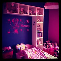 thought Id share my little girls bedroom which I have just decorated for her, she is a big fan of Minnie mouse and Disney princess :)