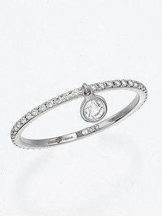 Ivanka Trump - 18k Bezel-Set Diamond Charm Ring - at - London Jewelers.. I'm in love...