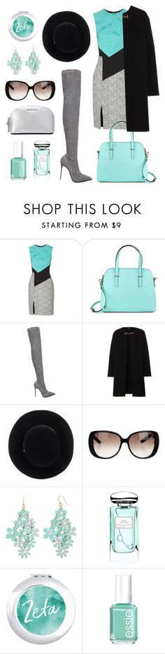 """""""mint"""" by minaagar on Polyvore featuring Prabal Gurung, Kate Spade, Le Silla, Burberry, Eugenia Kim, Gucci, Decree, By Terry, Essie and MICHAEL Michael Kors"""