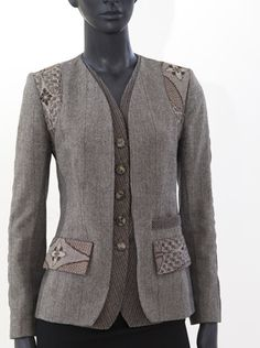 Indalia Fashion - Asian and Italian fabrics combined with Italian tailoring << #jacket #sewing