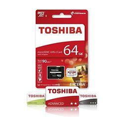 Superisparmio's Post Toshiba MicroSD  Toshiba Scheda di Memoria microSDXC 64GB - Exceria - 90MB/s - Classe 10 - UHS-I - U3  Adattatore  In offerta a solo 27.18   http://ift.tt/2vYgBfZ