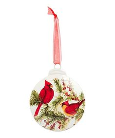 Refresh your Christmas tree with this charming ornament featuring a whimsical cardinal scene. Christmas Trends, Christmas Home, Xmas, Christmas Decorations, Christmas Ornaments, Holiday Decor, Cardinal Ornaments, Whimsical, Scene