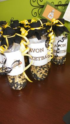 Spirit Bottles - great noise makers for basketball games! I filled mine with black and yellow beans - team colors.