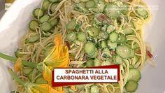 """La ricetta della carbonara di zucchine di Luisanna Messeri del 27 marzo 2017, a """"La prova del cuoco""""."""