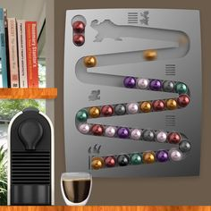 CapsuleKong - Nespresso wall-mount coffee pod capsule holder dispenser