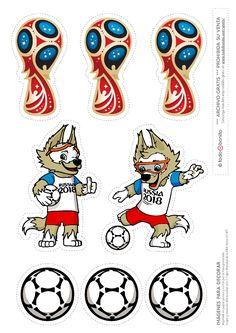 adornos. Mundial De Futbol. Rusia 2018.