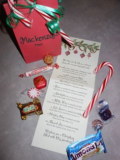 The Sweetest Gift - a candy to represent each of the Symbols surrounding Jesus's birth....candy cane as the Sheppard's staff.
