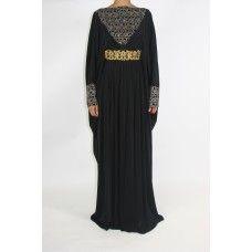 Black Jersey Abaya