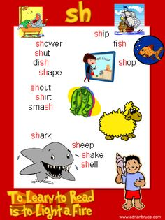 sh - sh phonics poster - sh wordlist - sh spelling list - word family poster