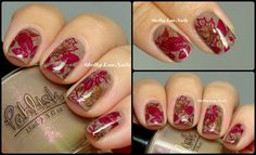 Look created using Pahlish, Zoya, and MoYou London for these pretty leaves.