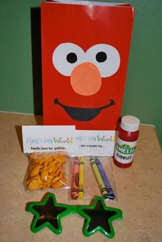 Another elmo themed party favor idea.