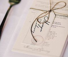 Wedding stationery design by The Hungry Zoo - place name tags and menus