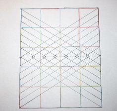 Big diamond, little diamond – a straight line quilting pattern