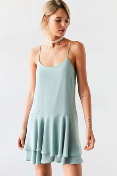 Pin for Later: This 1920s-Inspired Trend Is Making a Comeback — Just in Time For Sundress Season  Kimchi Blue Tiered Drop-Waist Mini Dress ($69)