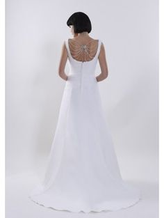 Passion by Romantica, we love the crystal beaded detail http://www.thecotswoldfrockshop.co.uk/wedding-dresses-c1/romantica-romantica-passion-l-k-at-the-back-crystal-detail-ivory-wedding-dress-p2012