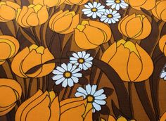 Lovely 60s vintage retro mod fabric with a floral by Inspiria, $24.00