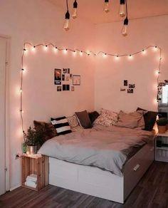 Small Room Bedroom, Room Ideas Bedroom, Room Decor Bedroom, Girls Bedroom, Summer Bedroom, Cozy Bedroom, Bed Room, Bedroom Designs, Bedroom Inspo