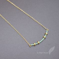 Seafoam Green Seed Beads with Hexagon Beads 16 by Bumhemian, $18.00