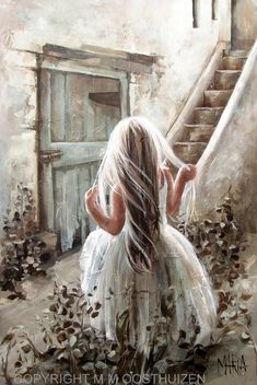 Original Fine Art Painting by Maria Magdalena Oosthuizen. Image Foto, Urbane Kunst, Painting People, Foto Art, Pics Art, Pretty Art, Anime Comics, Beautiful Paintings, Belle Photo