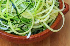 Grain free spiralized zucchini noodles
