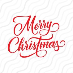 Merry Christmas Wording SVG By Svgsilhouettecuts