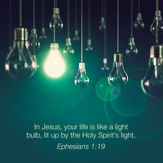 "Believers Are Powered by Jesus. - Ephesians 1:19, ""And what is the exceeding greatness of his power to us-ward who believe, according to the working of his mighty power,"" - http://access-jesus.com/Ephesians/Ephesians_1_19"