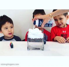 Shaving Cream Rain Clouds * ages 4+ ⋆ Raising Dragons