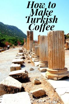 How to make Turkish Coffee. Step by step easy instructions with photos to make the traditional java one would find in Turkey. Delicious!