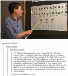 This is very cool. So many writers have created things that astound us, and then there are men like Tolkien and Okrand who create languages for fun.