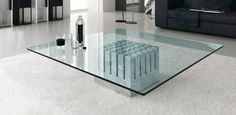 Scacco Contemporary Marble Coffee Table by Cattelan Italia Contemporary Coffee Table, Modern Coffee Tables, Coffee And End Tables, Contemporary Furniture, Coffee Table Size, Glass Top Coffee Table, Coffee Table Design, Glass Table, Furniture Styles