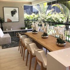 Living Room Modern, Living Spaces, Bedroom Wall Designs, Balcony Furniture, Flat Interior, Dining Table Design, Interior Decorating, Interior Design, Balcony Design