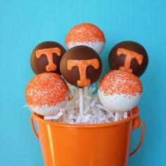 12 University of Tennessee Volunteer Pride Cake Pops. via Etsy.