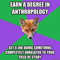 Anthropology Major Fox <--Got a MLISc too, so now I want to buy books for the anthro section in a university library.